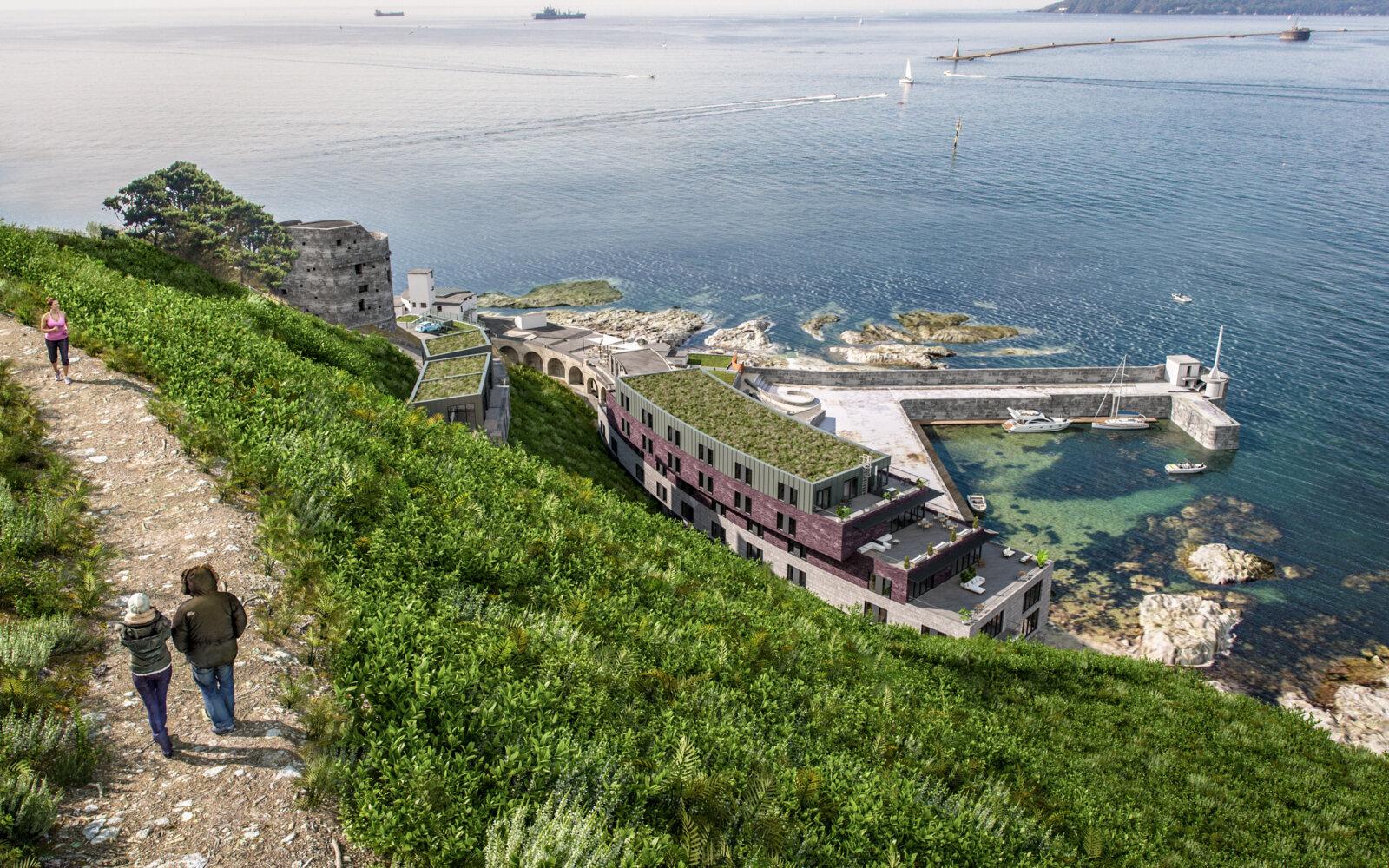 Fort Bovisand aerial