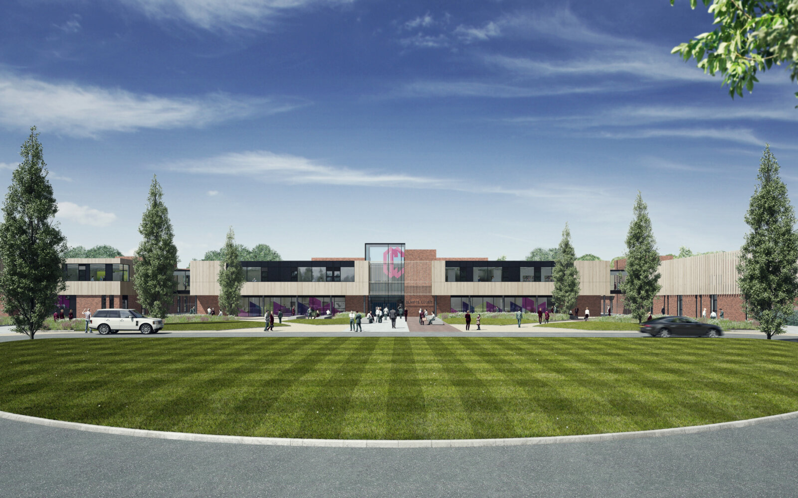 Claires Court School External CGI