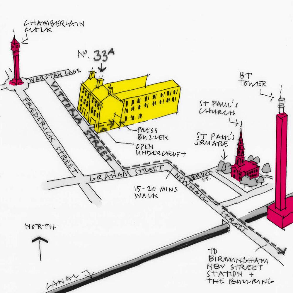 Birmingham Studio Sketch Map