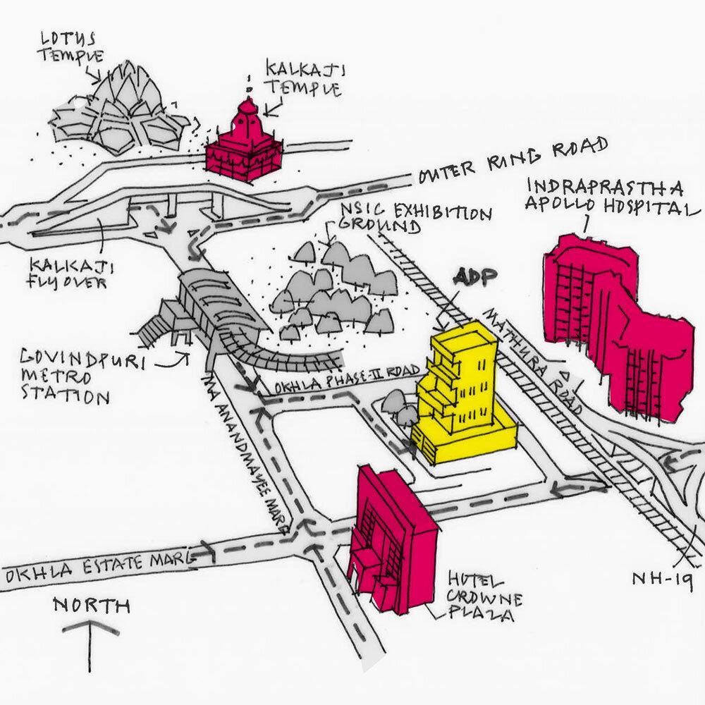Delhi Studio Sketch Map