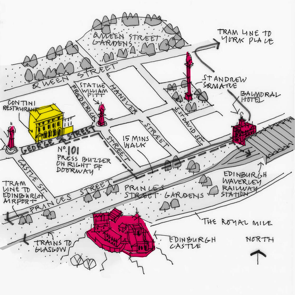 Edinburgh Studio Sketch Map