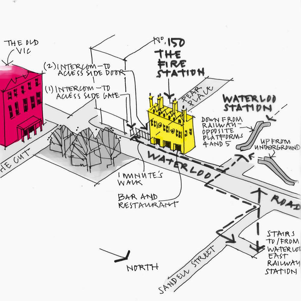 London Studio Sketch Map