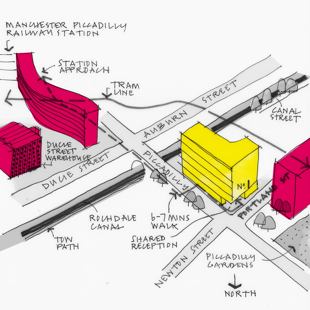 Manchester Studio Sketch Map