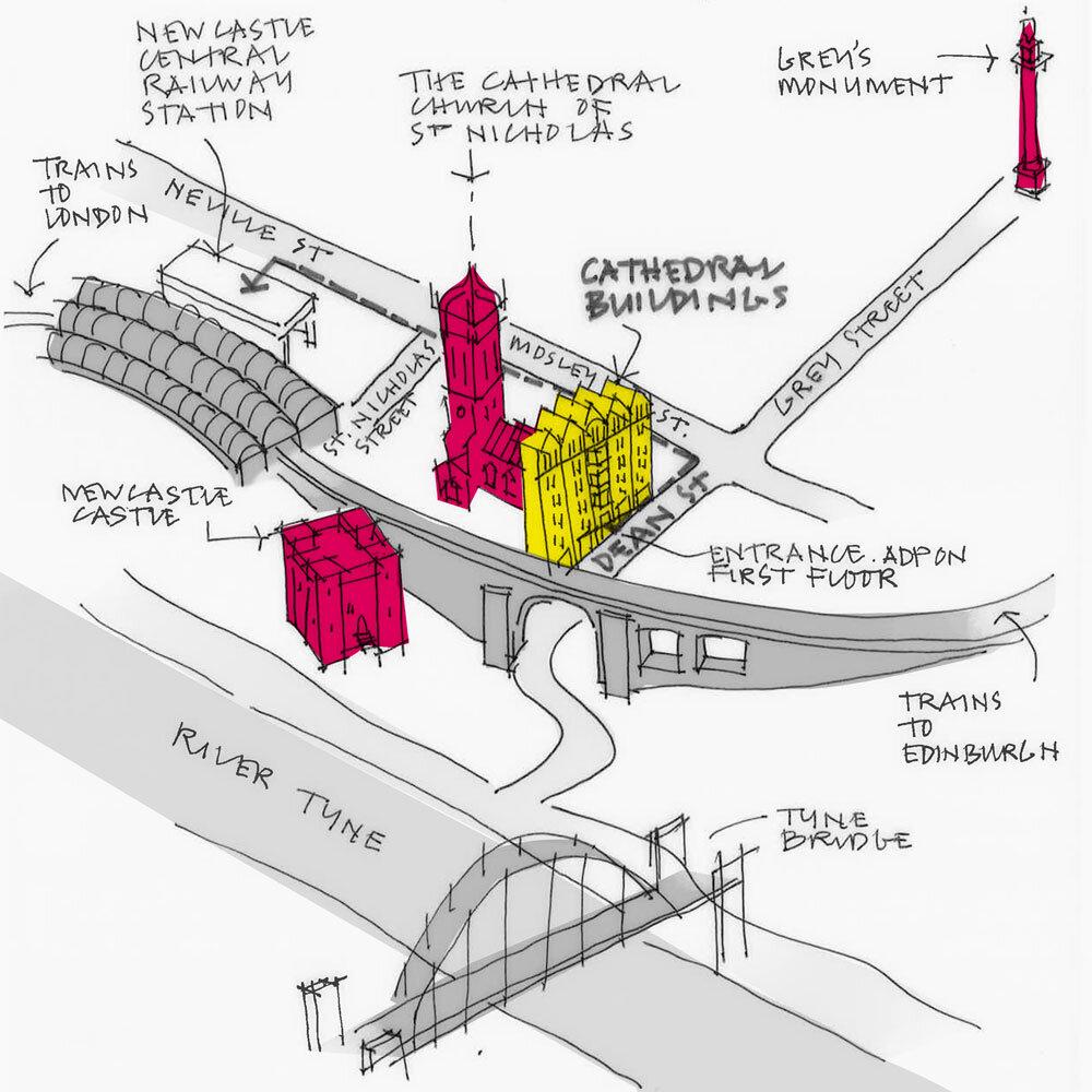 Newcastle Studio Sketch Map