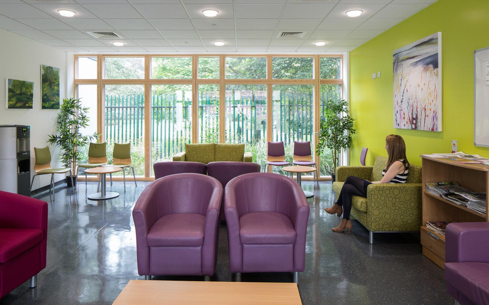 Worthing Hospital waiting area