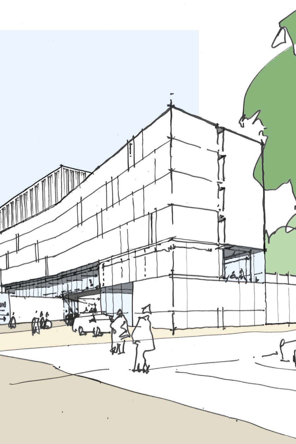 Sketch of the Clydebridge development