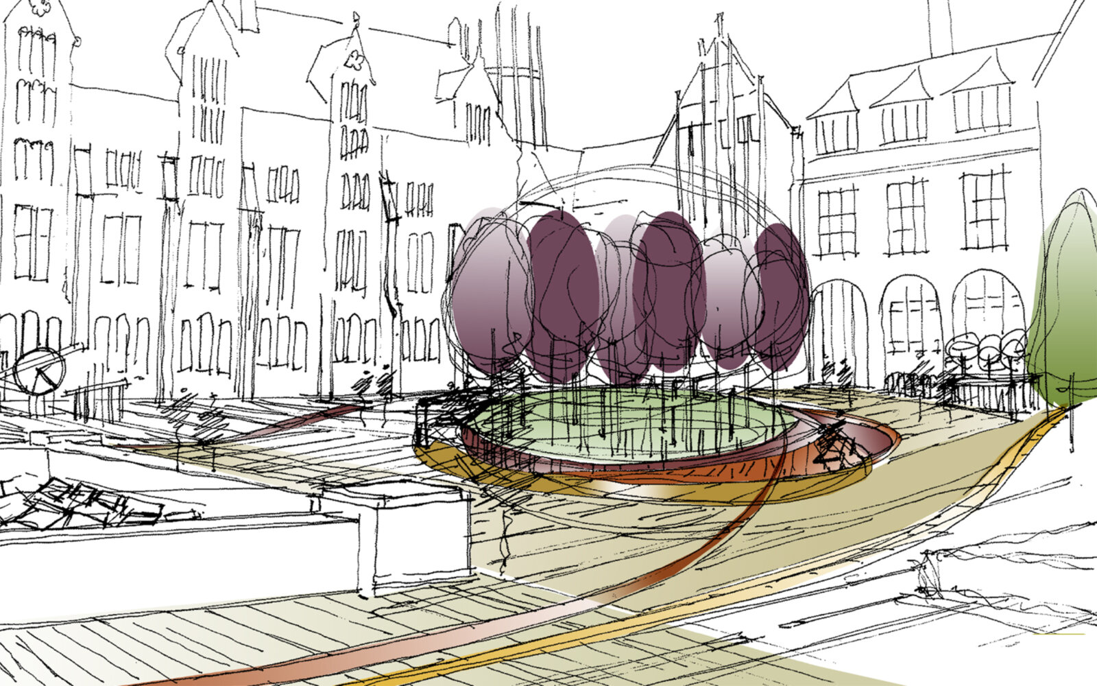 Jubilee Quad University of Liverpool sketch