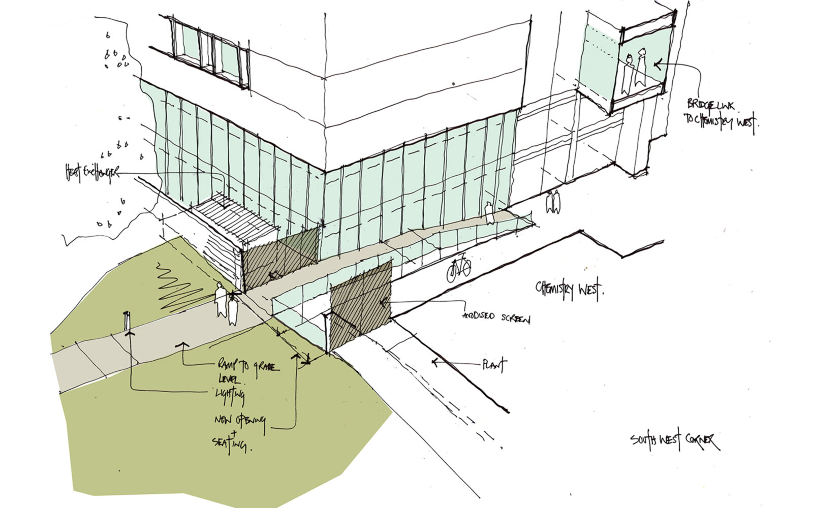 The Sir William Henry Bragg Building sketch