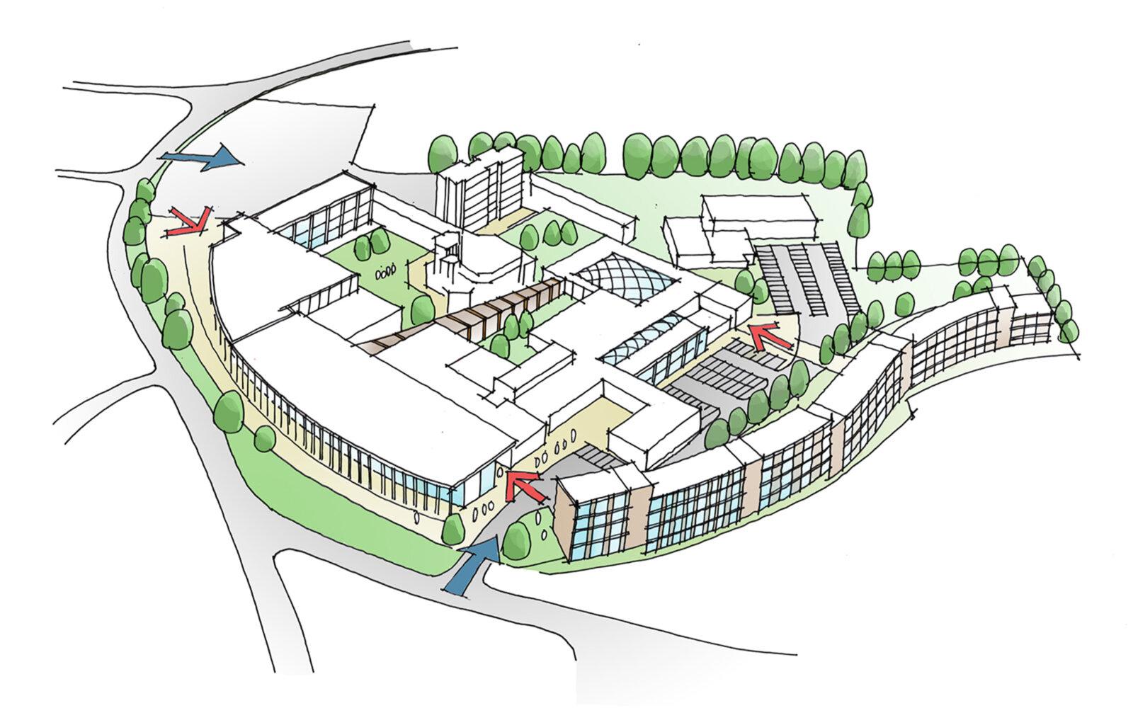 Newman University Halls of Residence sketch