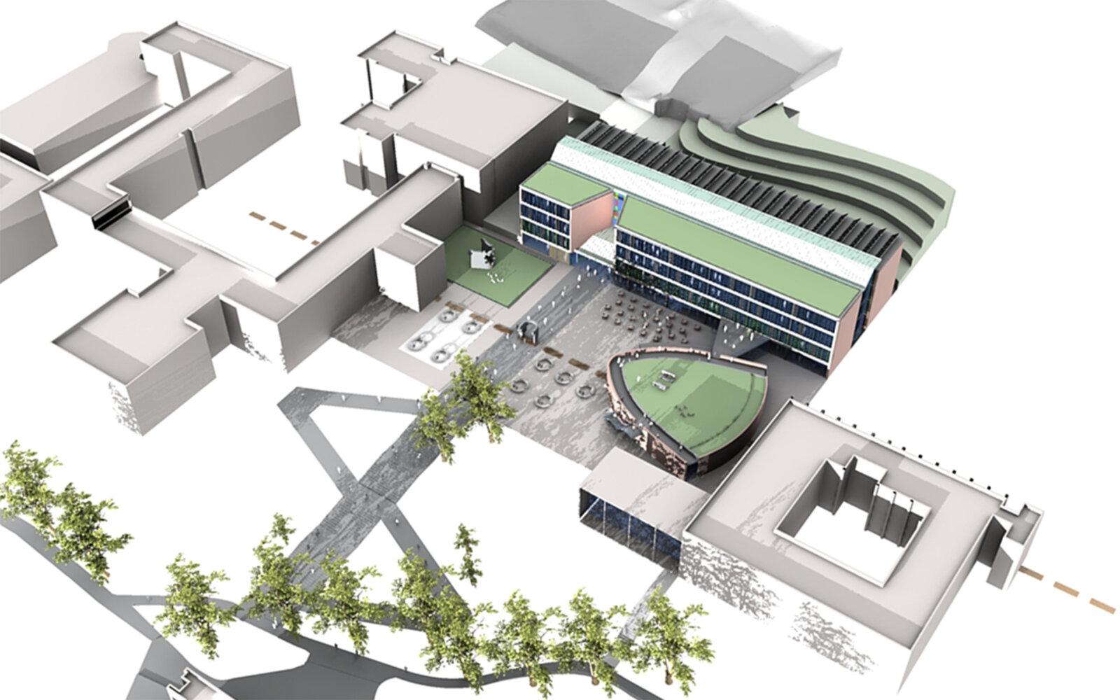 University of Sussex 3D CGI model