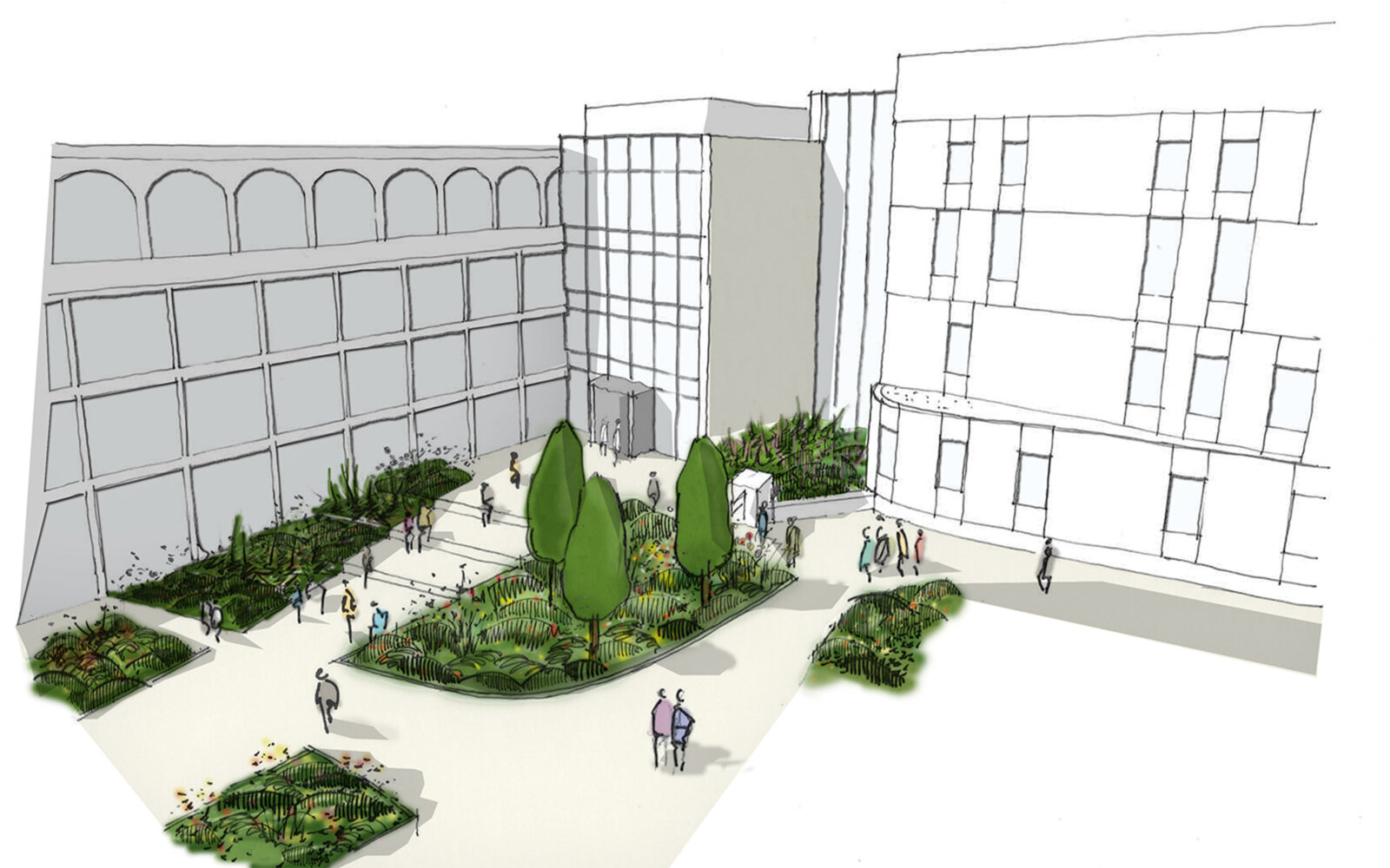 Joseph Priestley East Building University of Huddersfield sketch