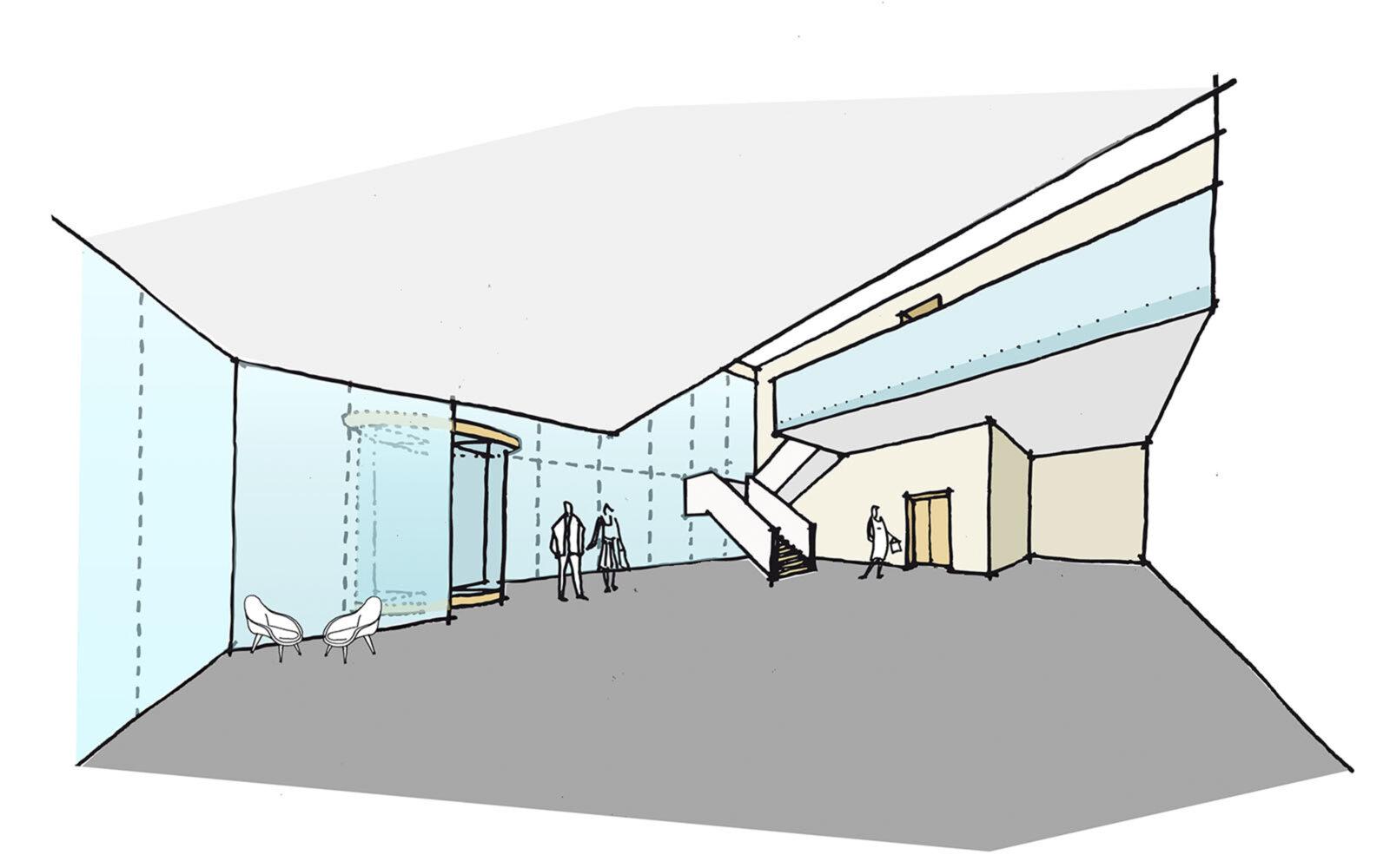 Wolfson Centre sketch