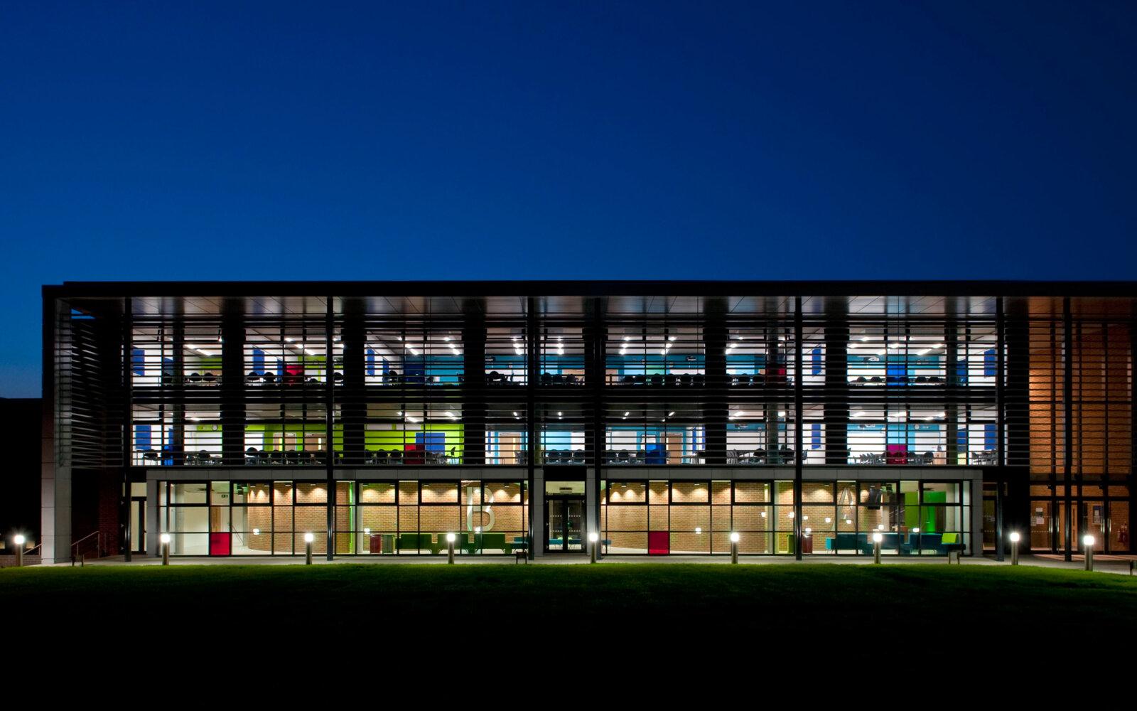 University of Sussex at night