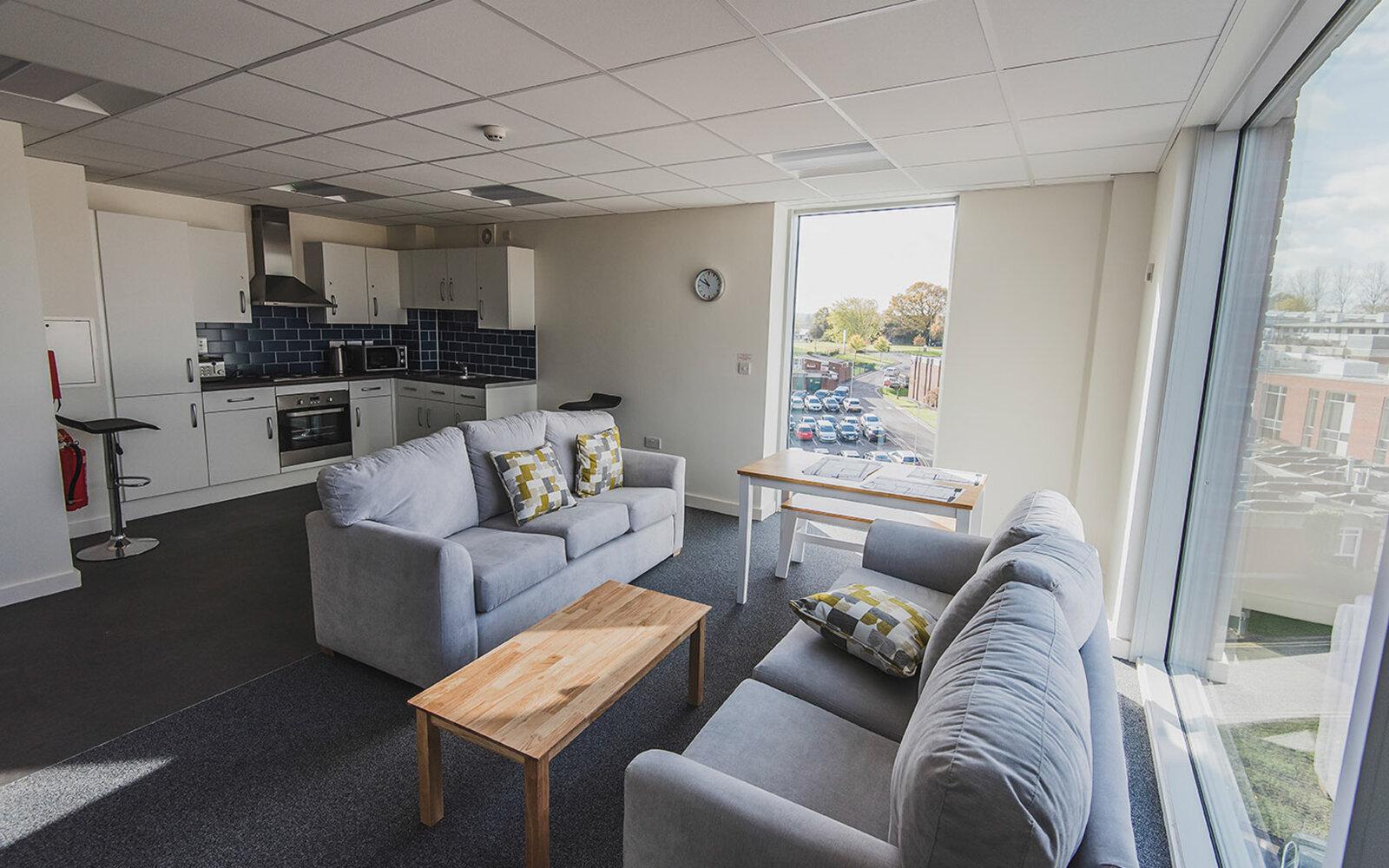 Newman University Halls of Residence interior
