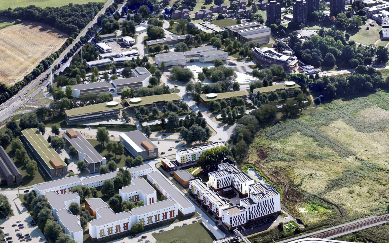 University of Essex aerial view