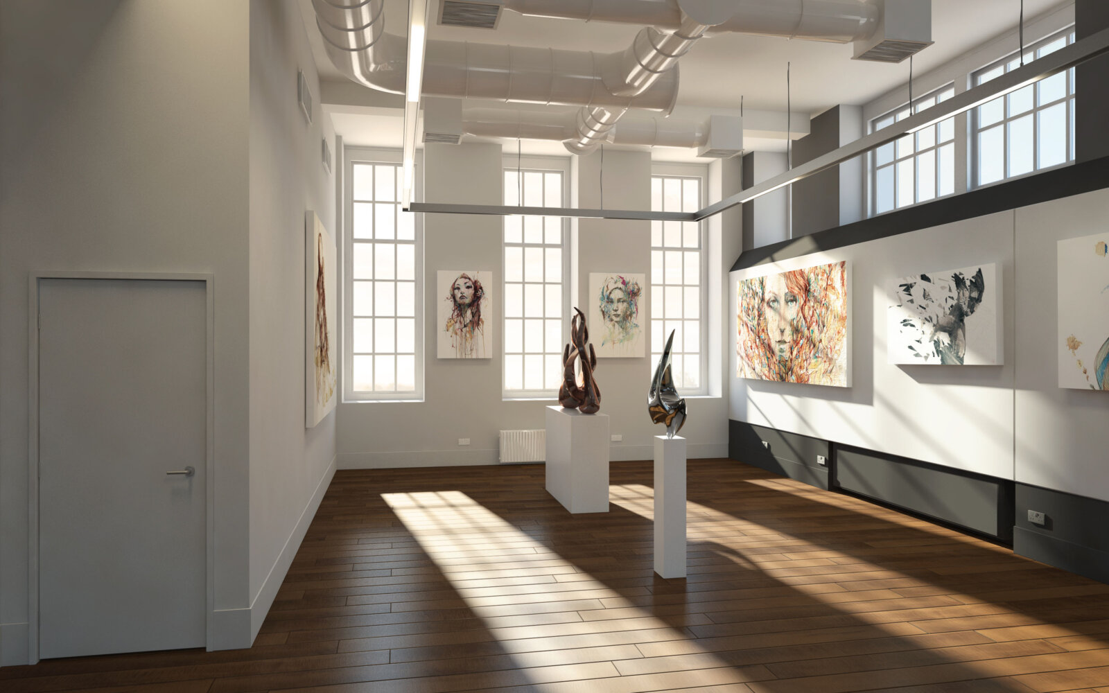 School of Fine Art University of Leeds gallery CGI