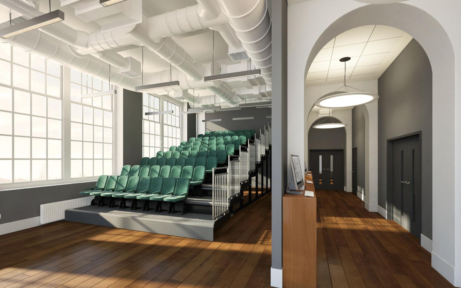 School of Fine Art University of Leeds lecture theatre CGI
