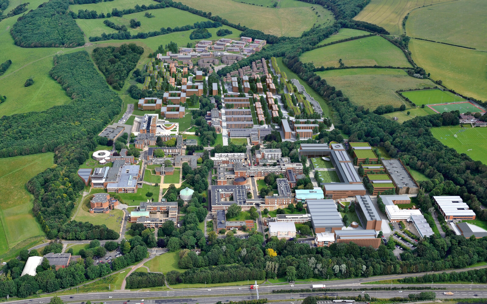 University of Sussex aerial view