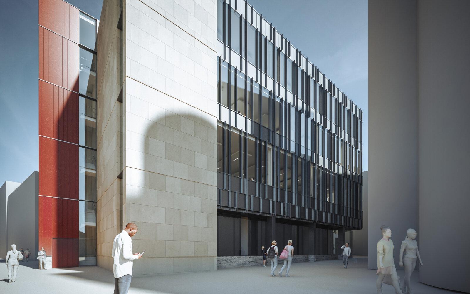 Joseph Priestley East Building University of Huddersfield CGI