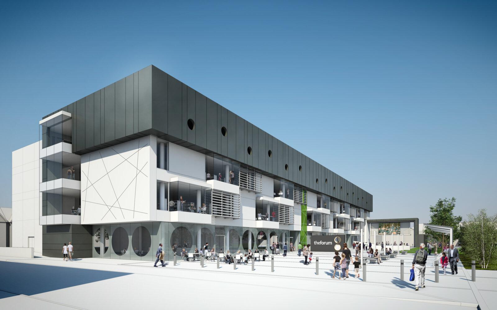 The Forum exterior CGI