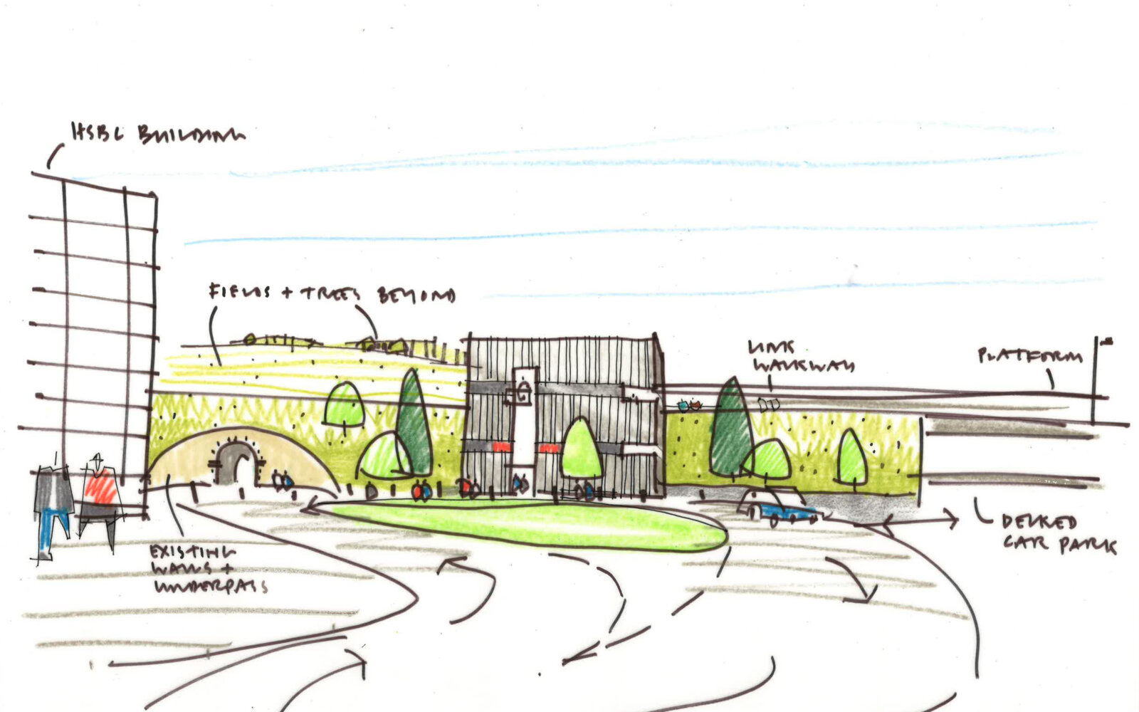 White Rose Railway Station sketch