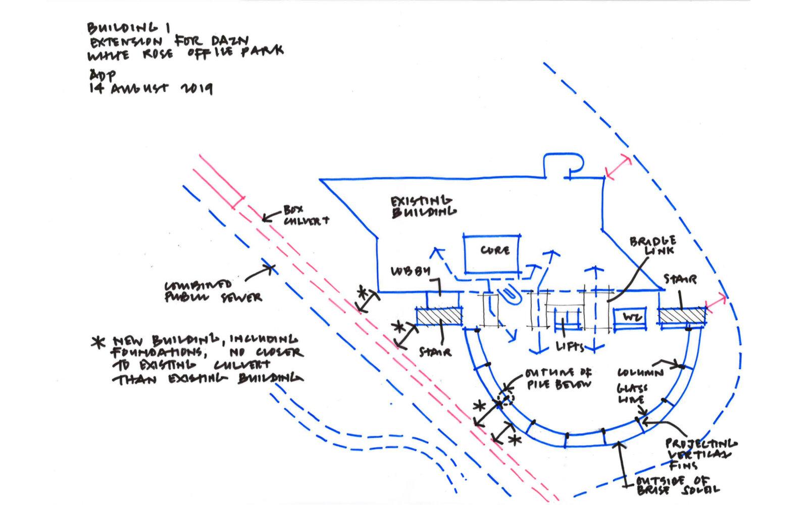 Office Building Extension Munroe K Ltd White Rose Office Park sketch