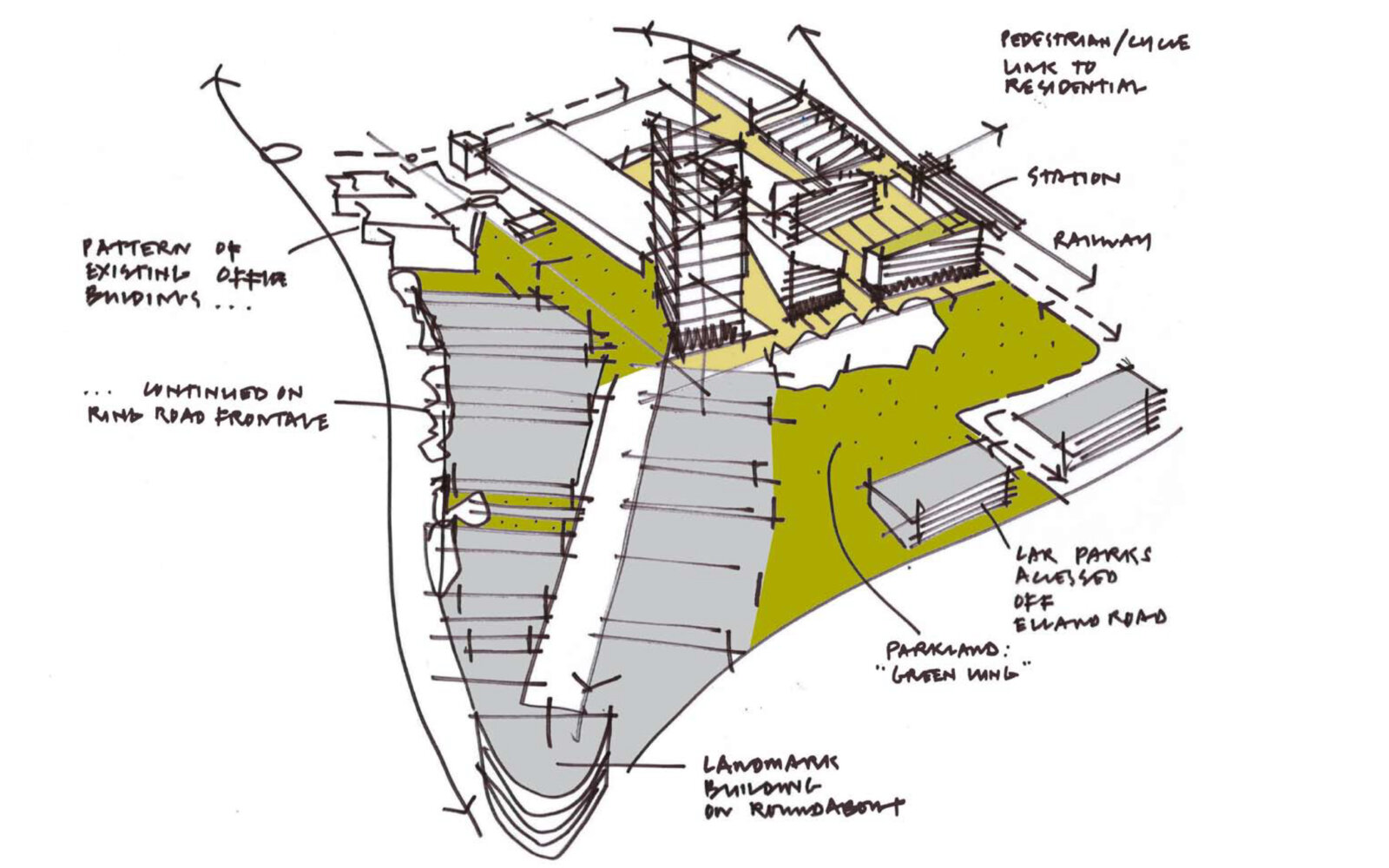 White Rose Office Park Masterplan sketch