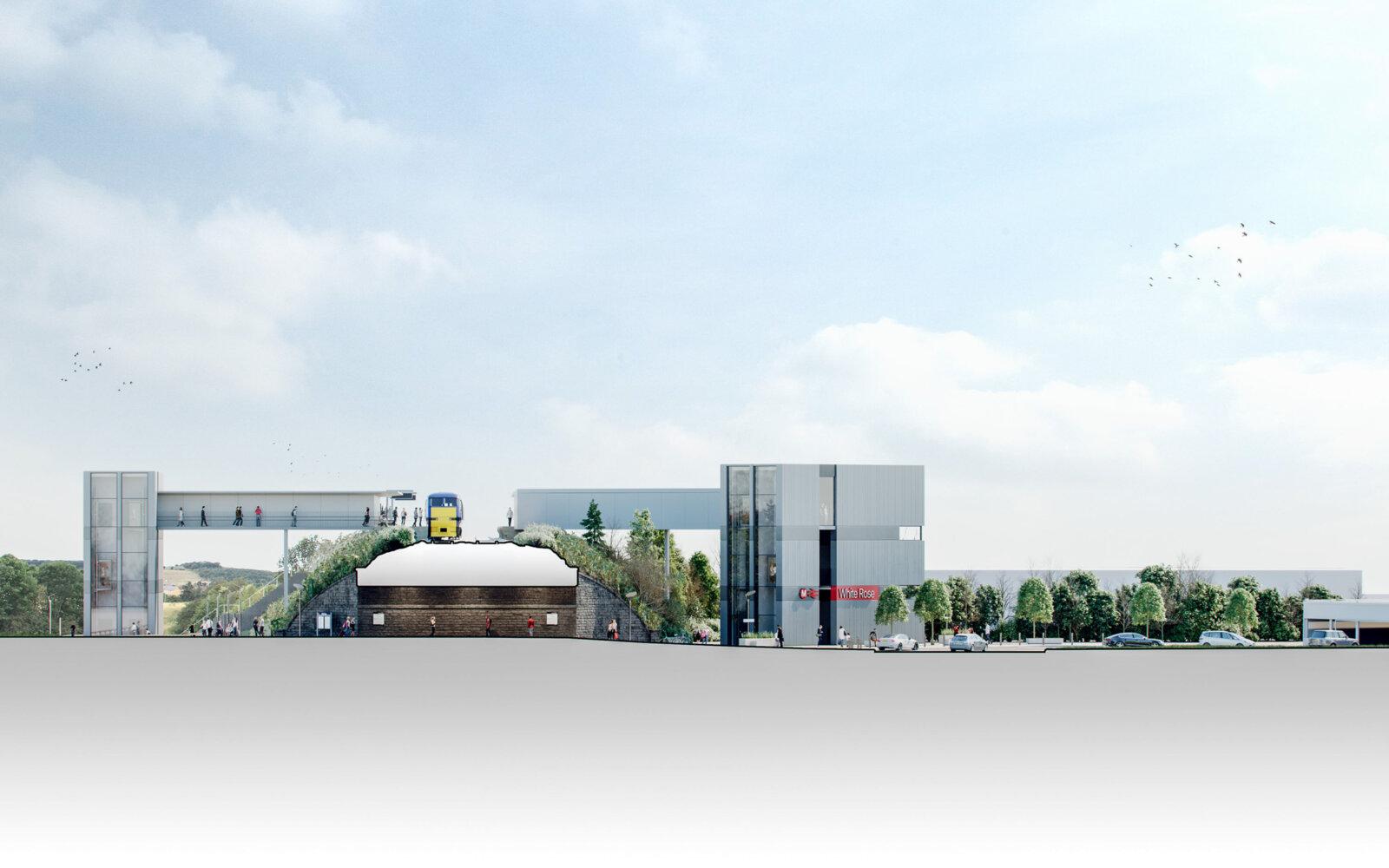 White Rose Rail Station CGI