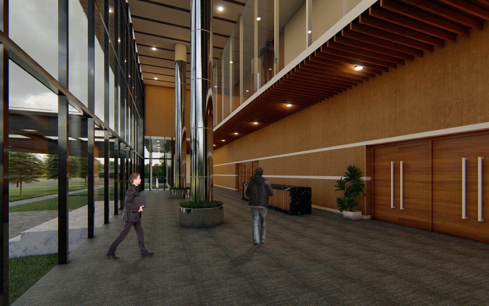 LCB Convention Centre Lucknow Cantonment Board internal CGI