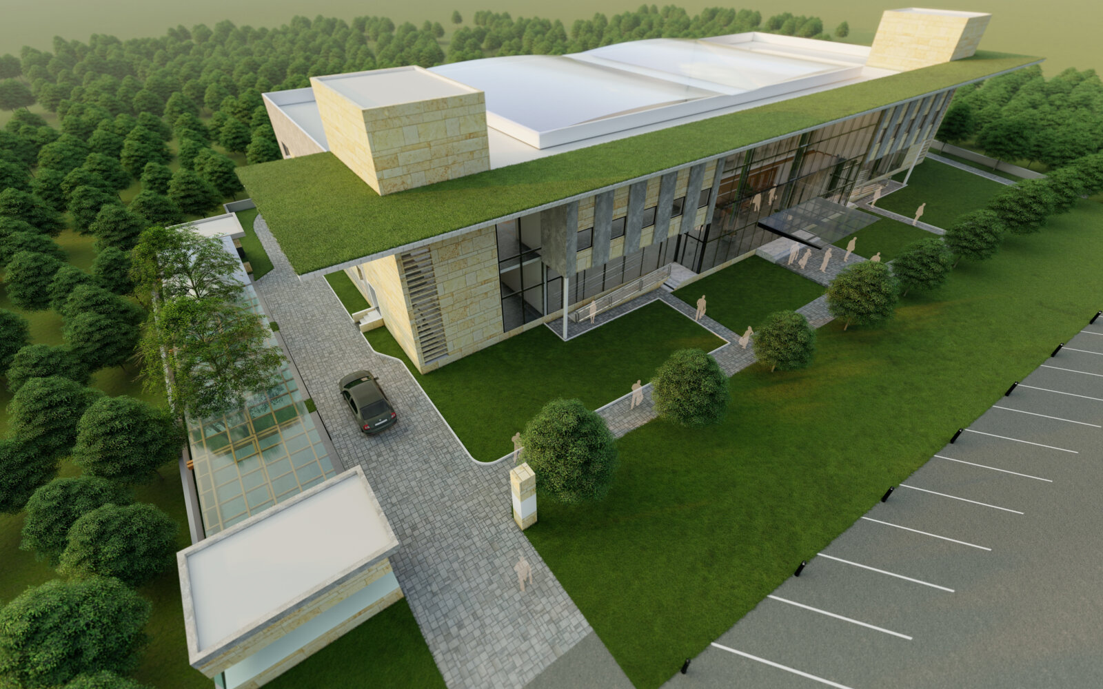 LCB Convention Centre Lucknow Cantonment Board external CGI