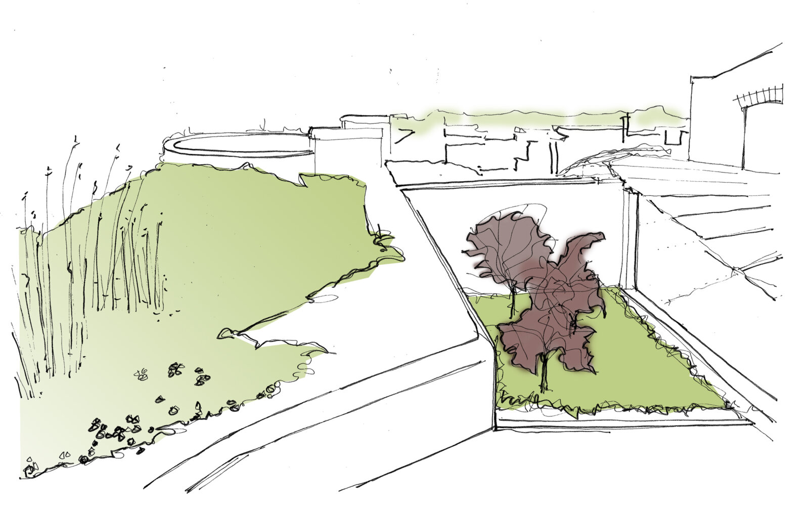 Fort Bovisand sketch Historic Garden Trail