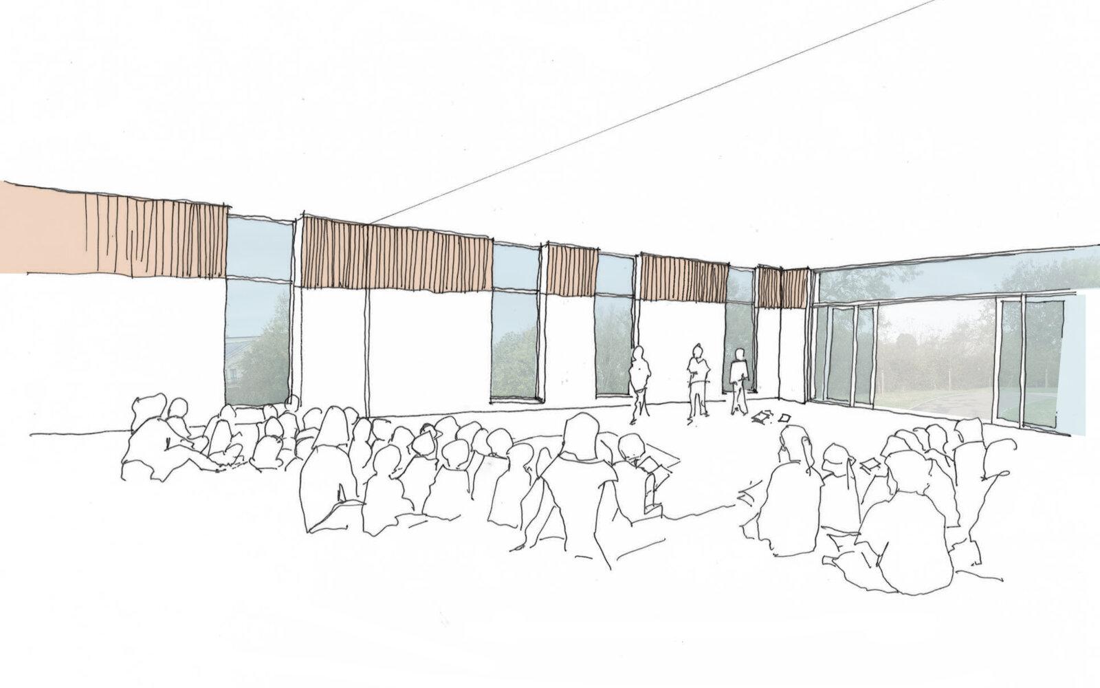 Elmsbrook Local Centre sketch