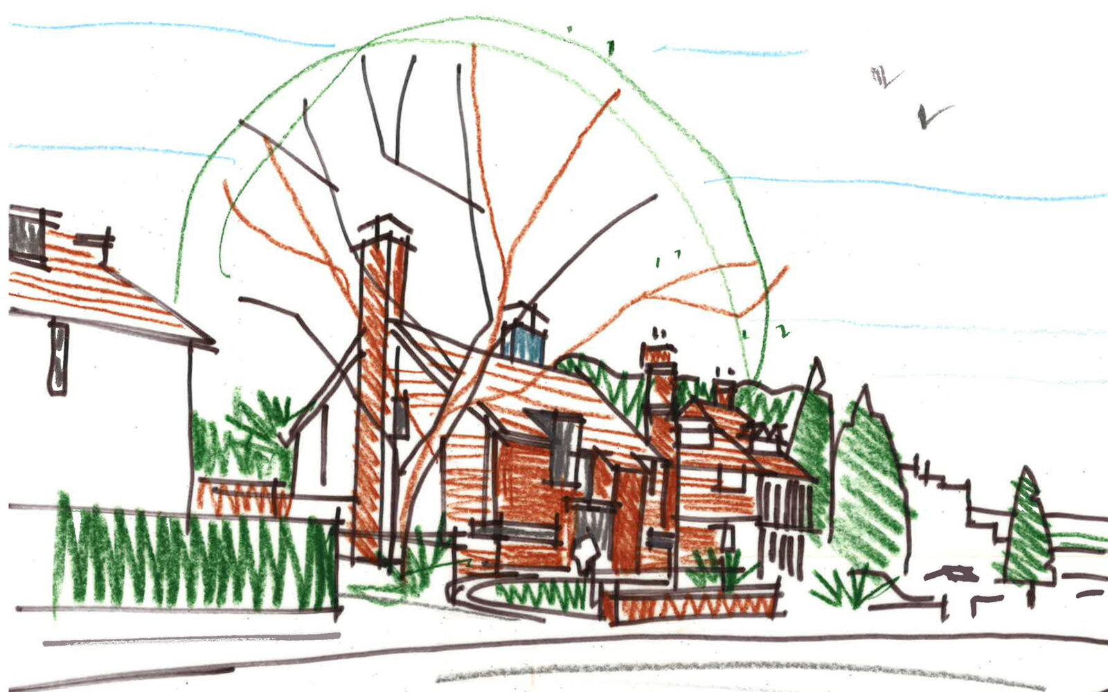 House concept sketch