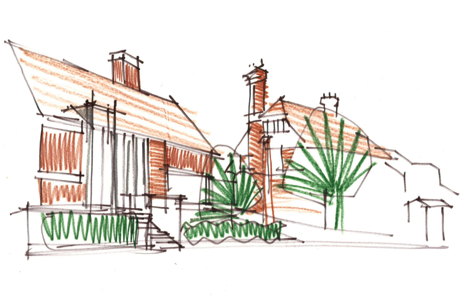 Private house concept sketch