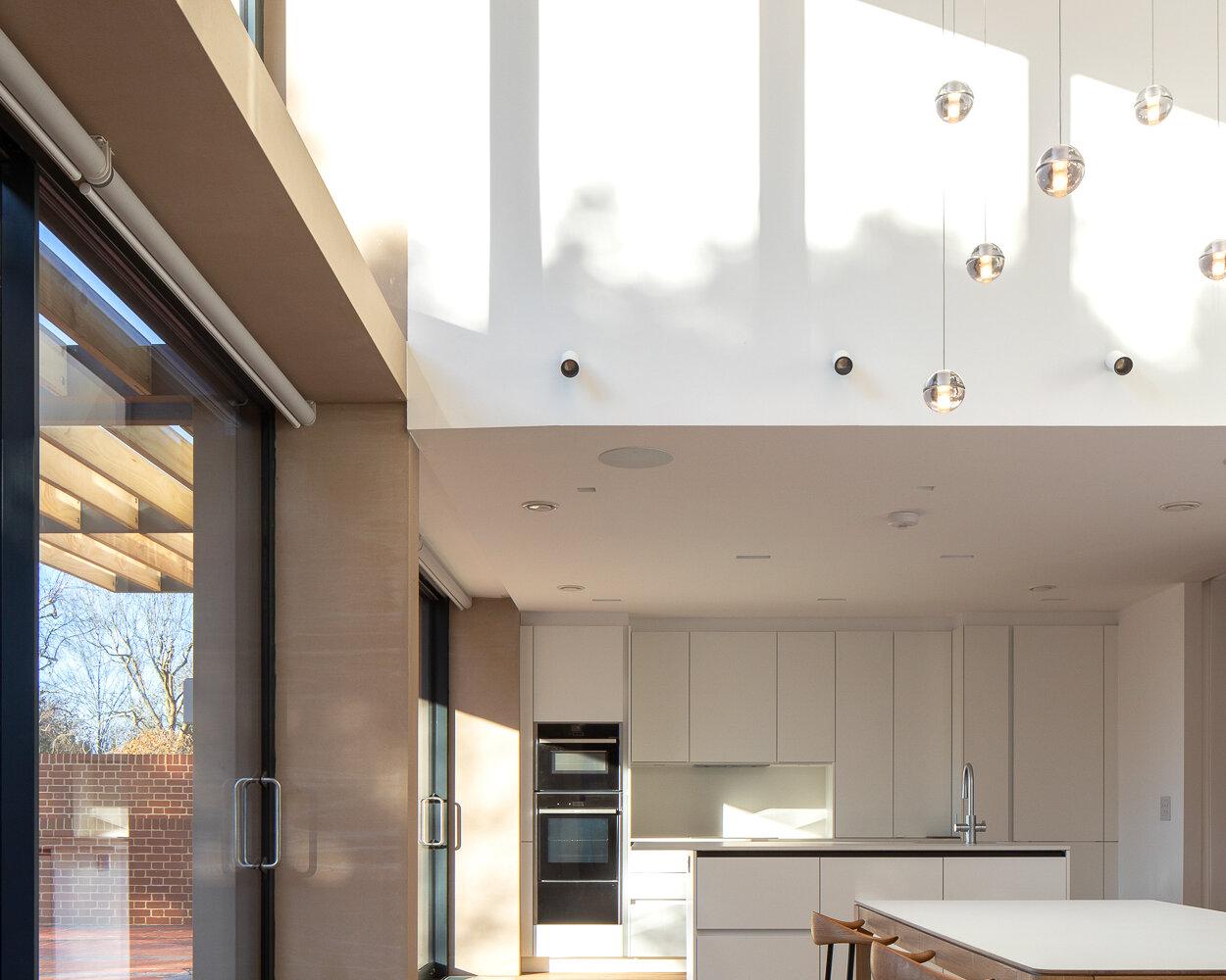 Private house kitchen atrium interior