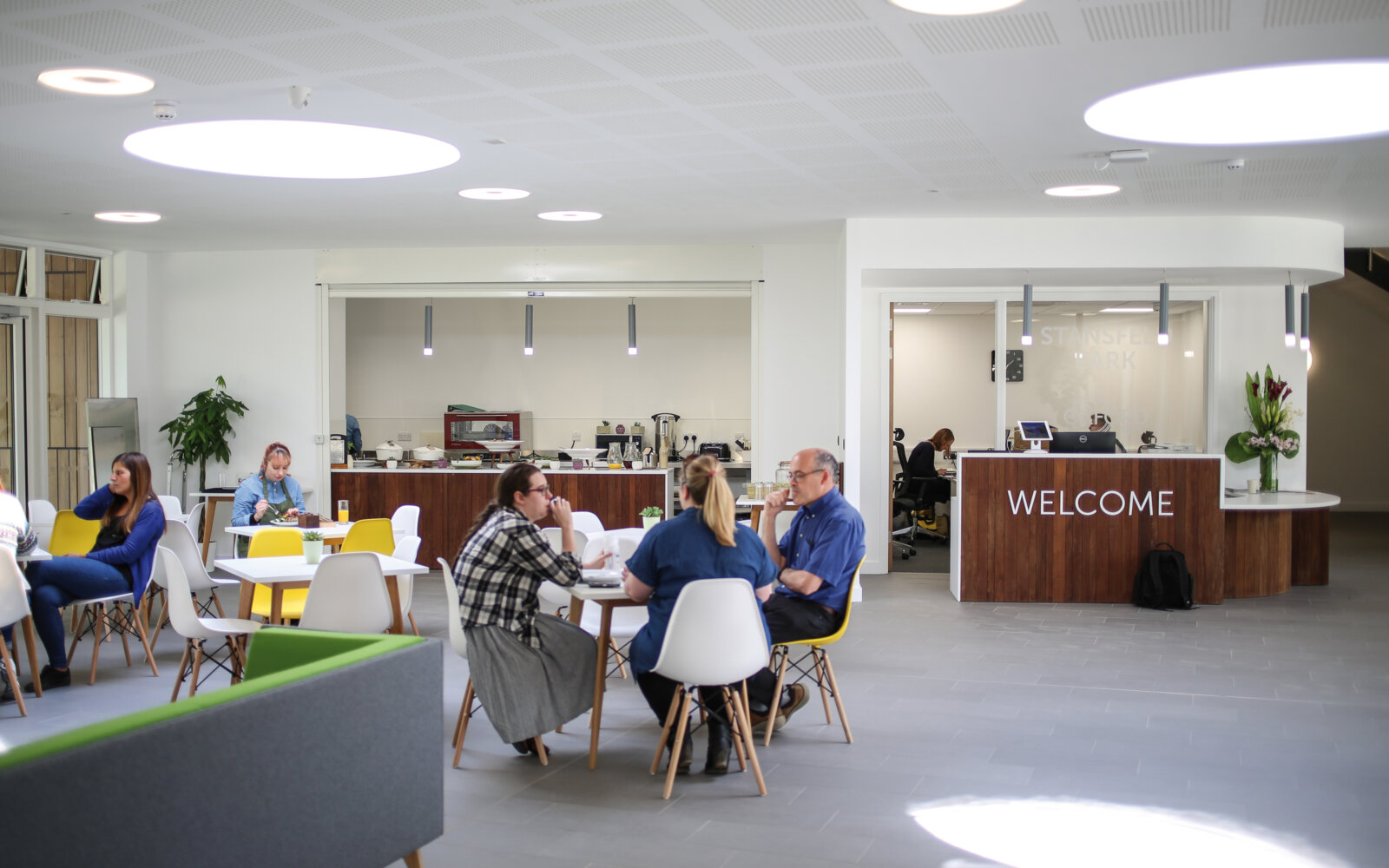 Stansfeld Park reception and cafe area