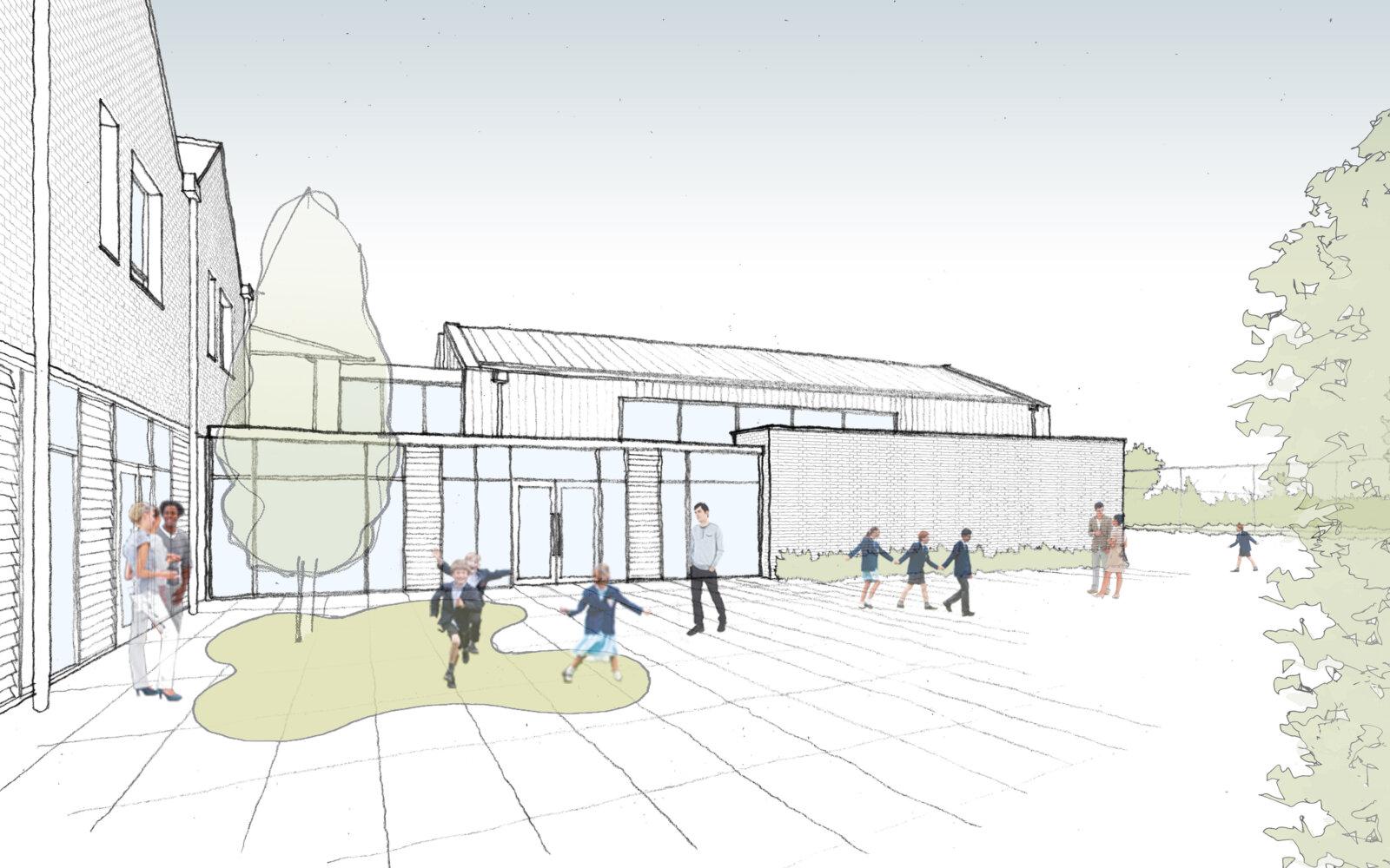 Chesham Preparatory School sketch