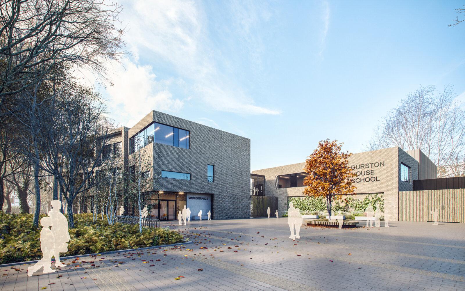Durston House School entrance CGI