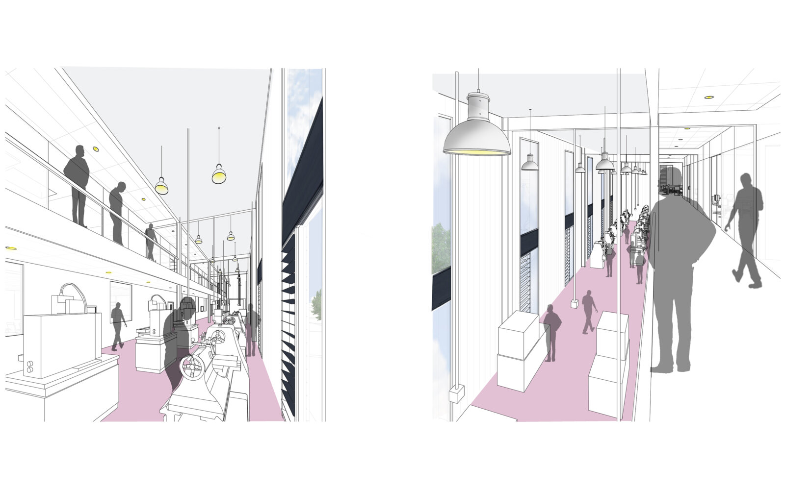 Activate Learning Oxfordshire interior sketch