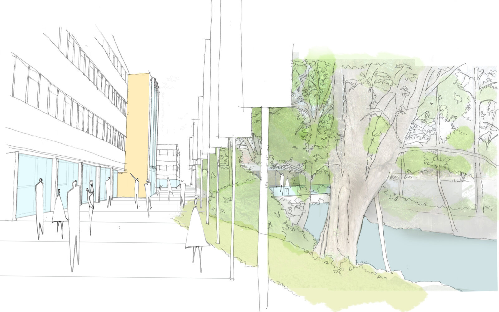 Activate Learning Oxfordshire river walk sketch
