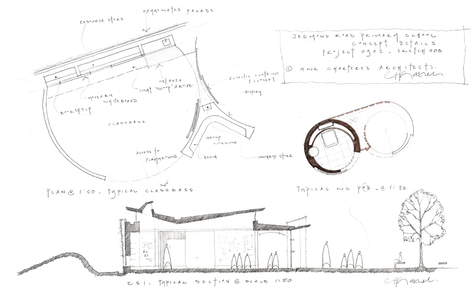Jesmond Gardens Primary School concept sketches