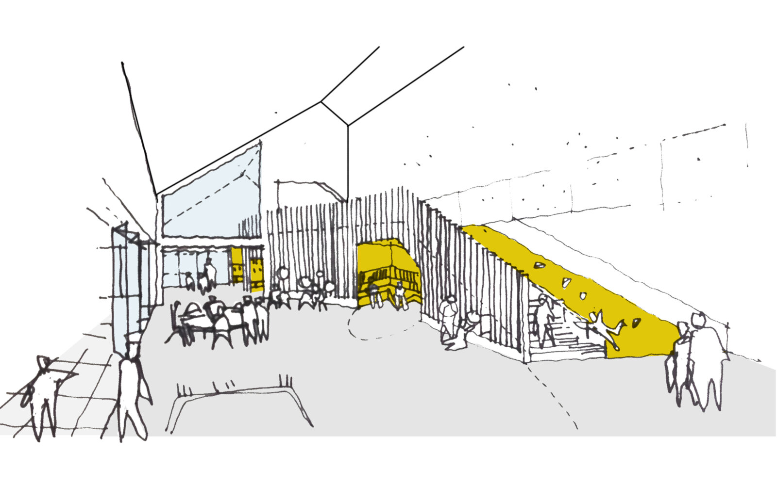 Hallglen Early Years Centre internal view sketch