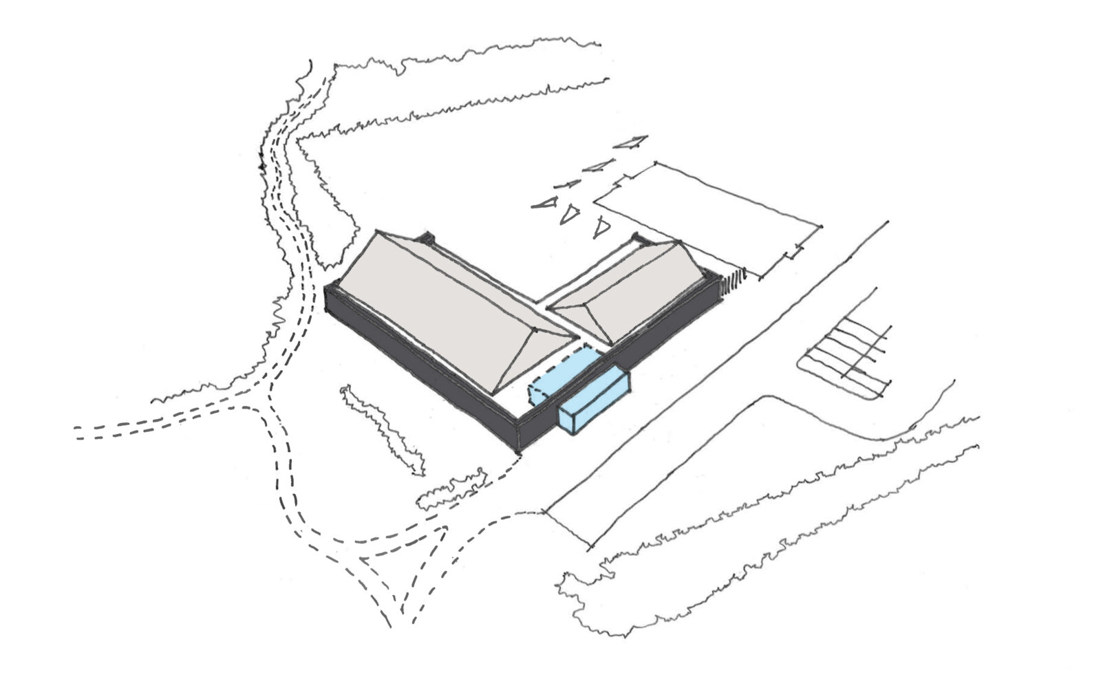 Hallglen Early Years Centre massing diagram