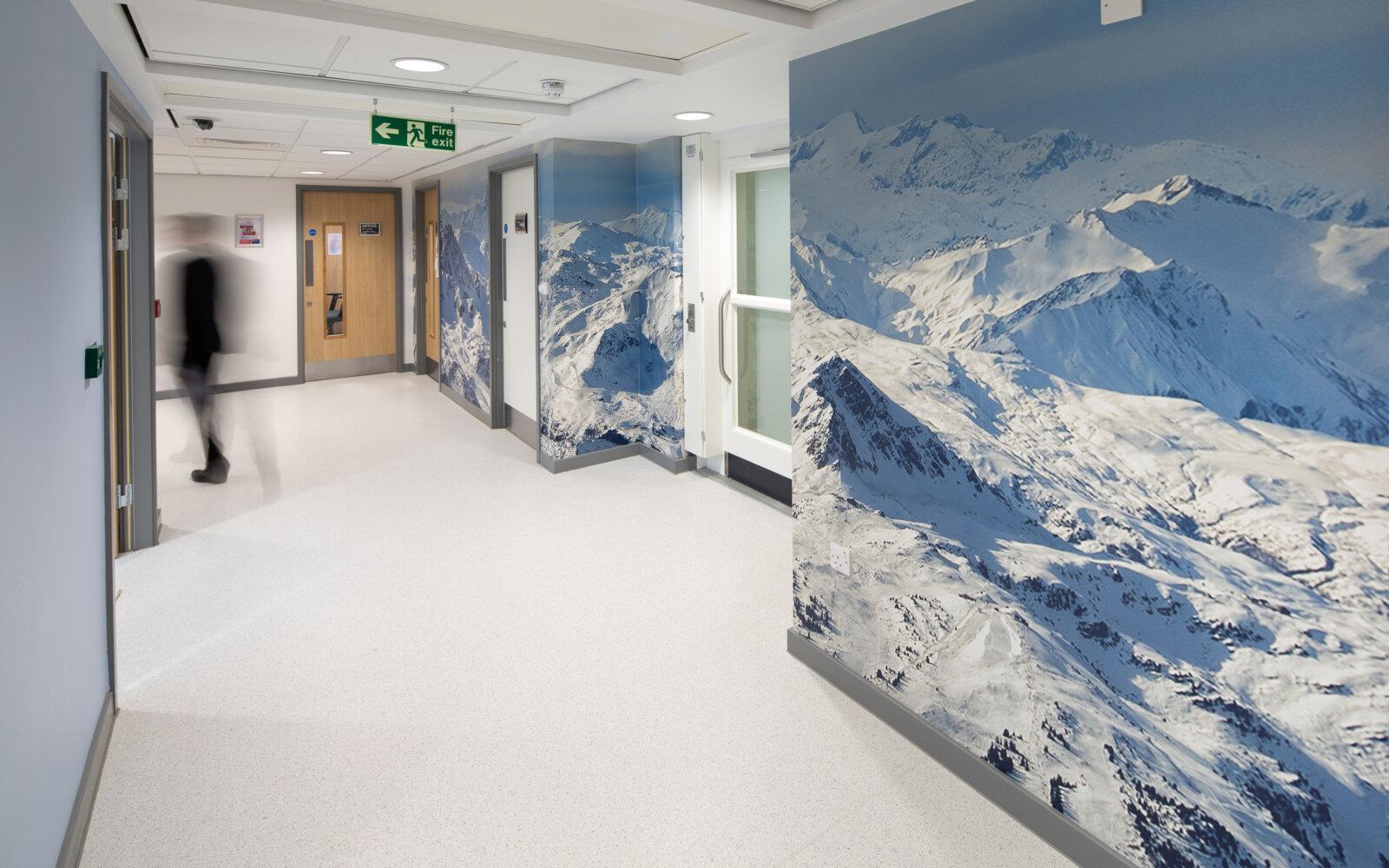 Harris Aspire Academy internal corridor