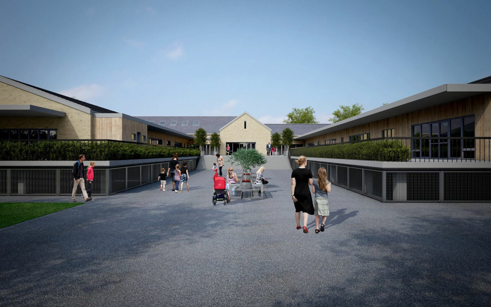 Oldfield Primary School entrance CGI