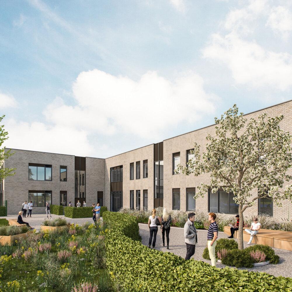 Meadowbrook School exterior CGI