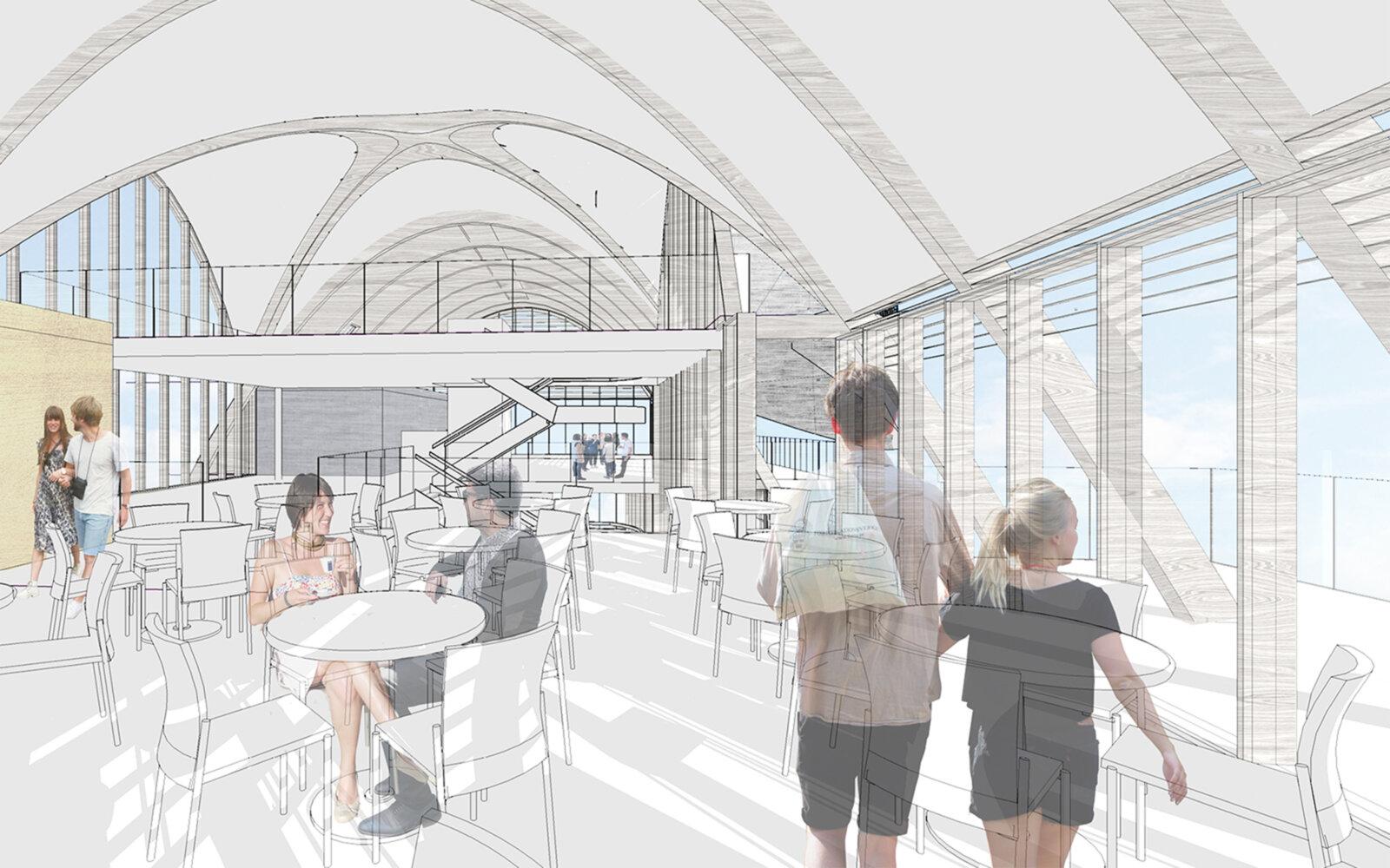 Southend Pier Pavilion internal sketch