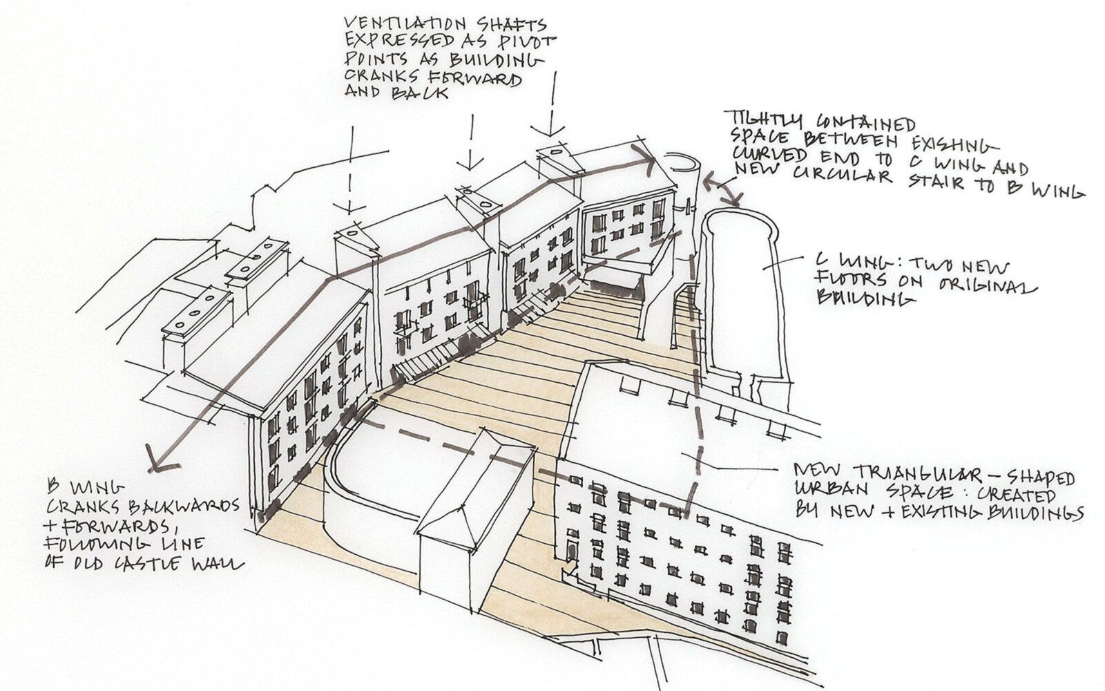 Oxford Castle sketch