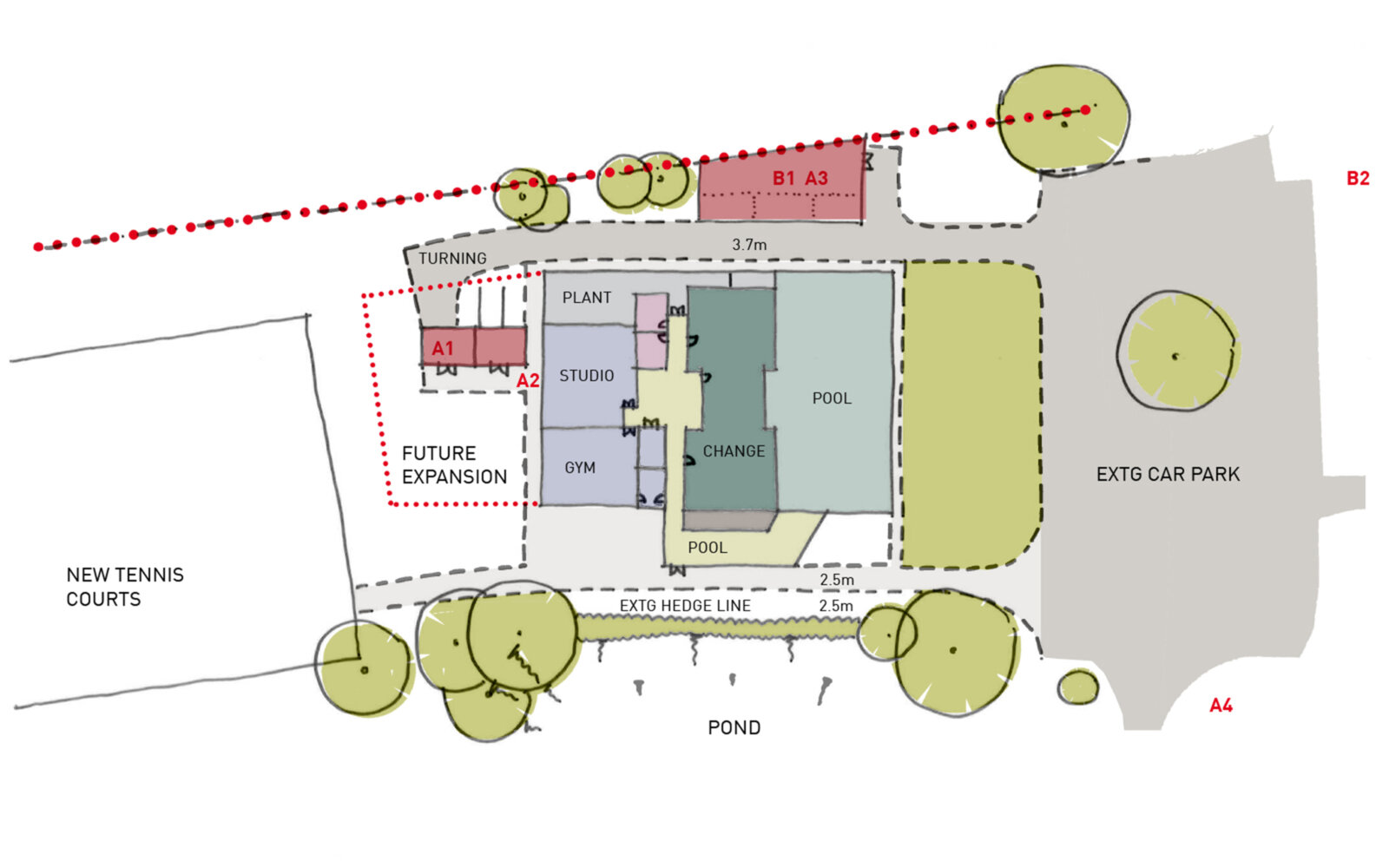 Phyllis Court Fitness Centre sketch