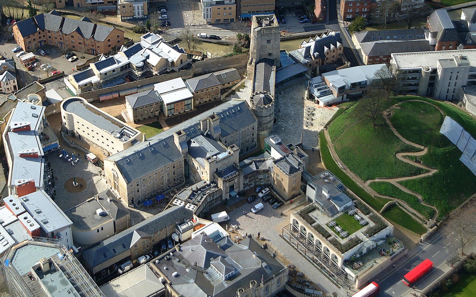 Oxford Castle aerial photo